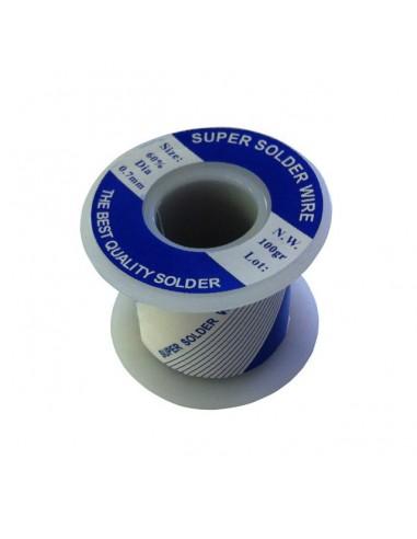 Stagno mm 0,7, lega Sn/Pb  100 grammi